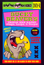BUCKY BEAVER'S STAGS LOOPS AND PEEPS VOL 100 - LESBO LOVE ORGY PT 1 - DVD-R