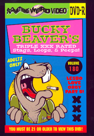 BUCKY BEAVER'S STAGS LOOPS AND PEEPS VOL 180 - LESBO LOVE ORGY PT 5 - DVD-R