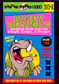 BUCKY BEAVER'S STAGS LOOPS AND PEEPS VOL 190 - LESBO LOVE ORGY PT 6 - DVD-R