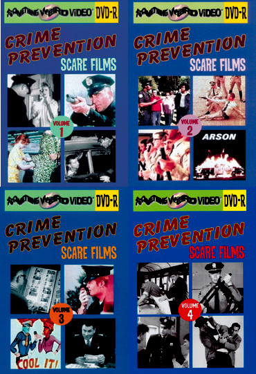 CRIME PREVENTION SCARE FILMS DVD Mega Set Vols 01-4