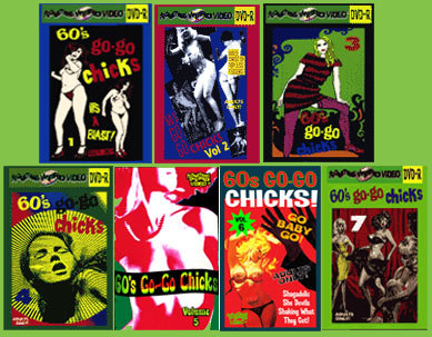 60's GO-GO CHICKS DVD Mega Set Vols 1-7