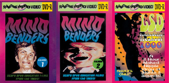 LSD PSYCHEDELIC FREAK-OUT / MINDBENDERS Vols 1-2 DVD Mega Set