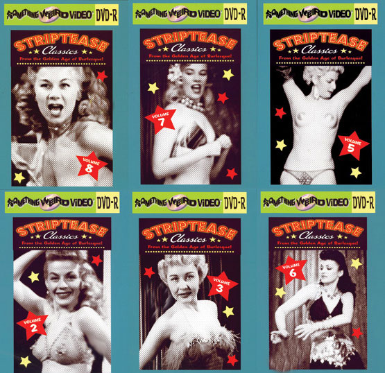 STRIPTEASE CLASSICS DVD Mega Set Vols 1-8