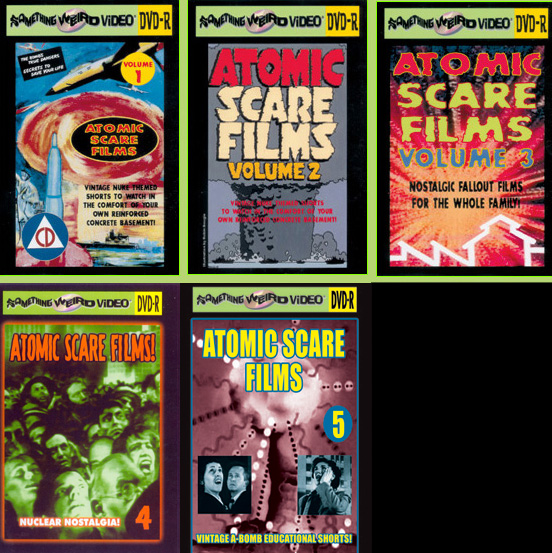 ATOMIC SCARE FILMS DVD Mega Set Vols 1-5