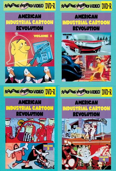 AMERICAN INDUSTRIAL CARTOON REVOLUTION DVD Mega Set Vols 1-8