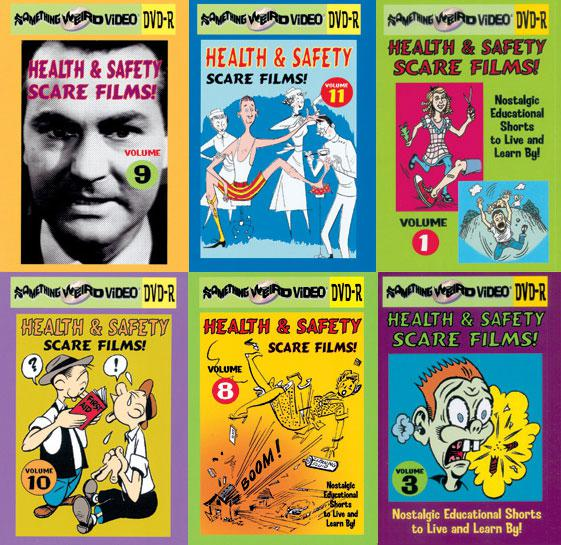 HEALTH AND SAFETY SCARE FILMS DVD Mega Set Vols 1-18