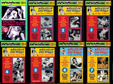 WRASSLIN' SHE BABES Classic Ladies Wrestling DVD Mega Set Vols 0-18