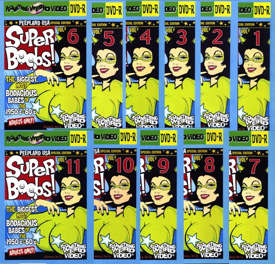 SUPER BOOBS DVD Mega Set Vols 1-11